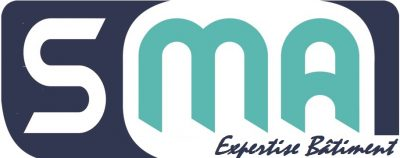 Logo SMA, expert bâtiment 27,